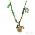 Collana Verde Pietre e Cristalli con Ciondoli