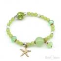 Bracciale Verde con Stella Marina