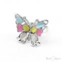 Anello Farfalla e Pietre