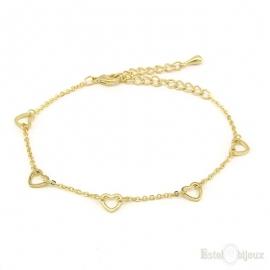 Five Heart Bracelet