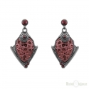 Lava and Crystals Earrings