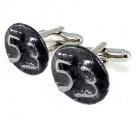 Railroad Date Nail Cuff Links - SILVER Plated - Custom Year